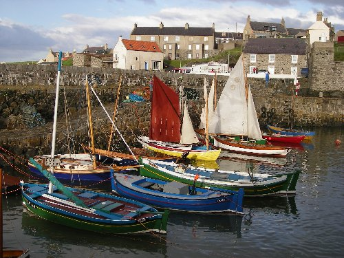 A Moray Firth fishing village.