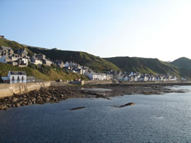 The picturesque village of Gardenstown. Home of the CRRU team.